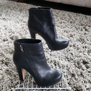 Vince Camuto Black Leather Booties